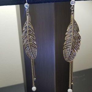 Vintage Betsey Johnson Feather Earrings